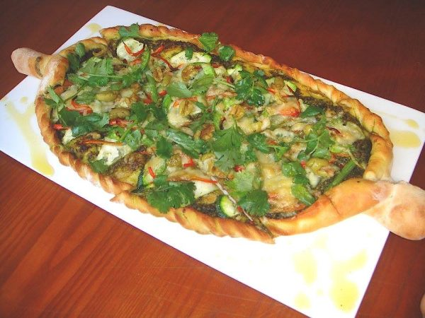 Delectable Vegetarian Pizza