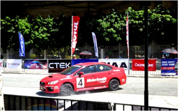 Manila International Auto Show First Subaru car showing fastest parking tricks like parallel parking