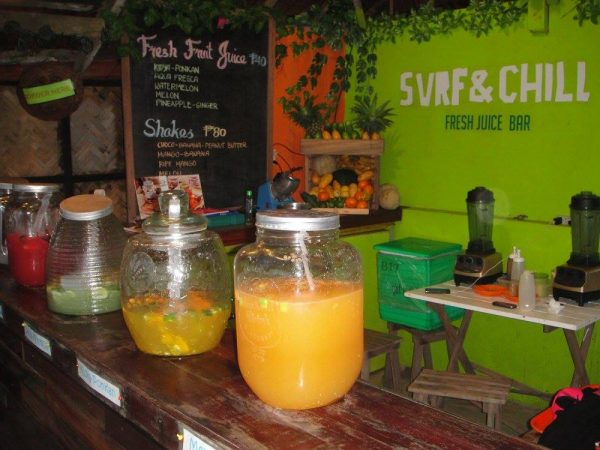 Instant healthy refreshments at Surf & Chill Fresh Juice Bar