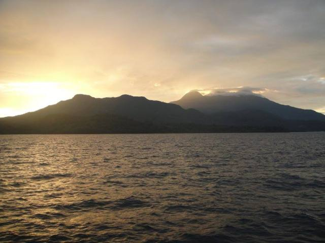 Volcanoes rising above Camiguin