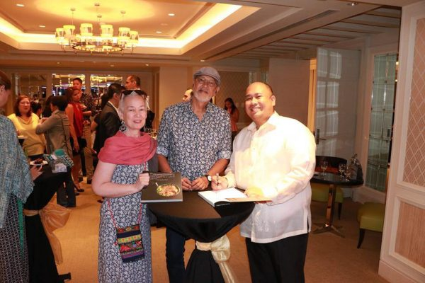 Chef Tatung with National Artist BEN CAB and Ms. Annie Sarthou