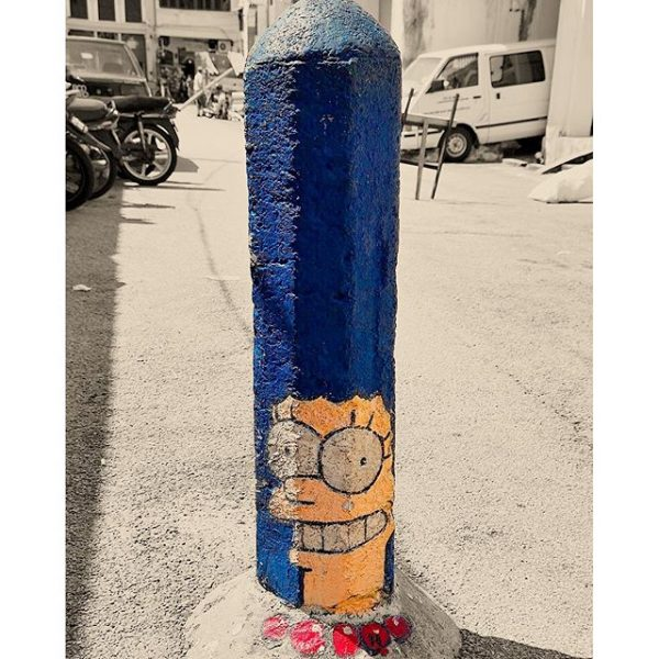 Marge Simpson Bollard photo via Instagram