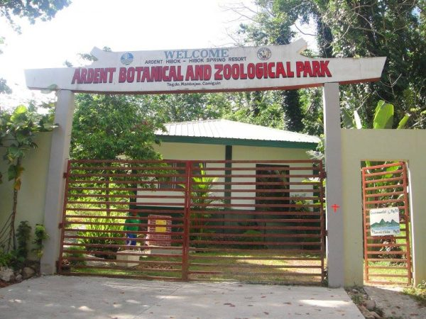 The entrance to the botanical and zoological park