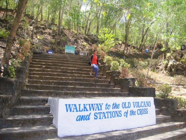 The foot of the Walkway to the Old Volcano and Stations of the Cross