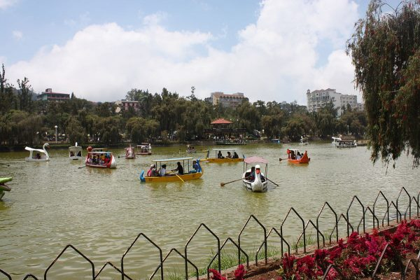 Manmade lake in Burnham Park Baguio where visitors do boating