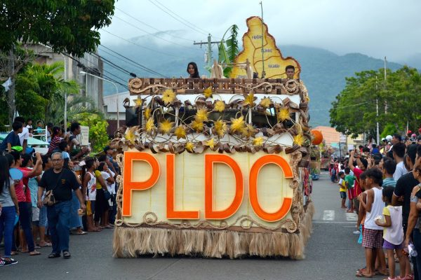 PLDC float adorned with abaca decor