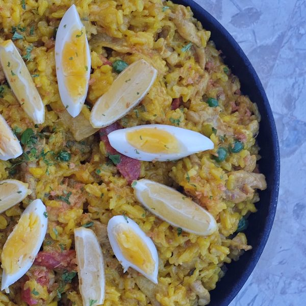 Paella Valenciana at Tomar Tapas Bar