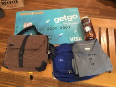 Travel Gears I bought using my new GetGo UnionBank Visa Debit Card
