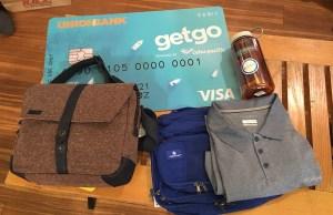 Travel Gears I bought using my new GetGo UnionBank Visa Debit Card