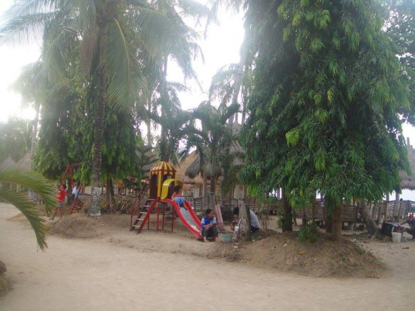 A kiddie playground inside Alobijod Cove