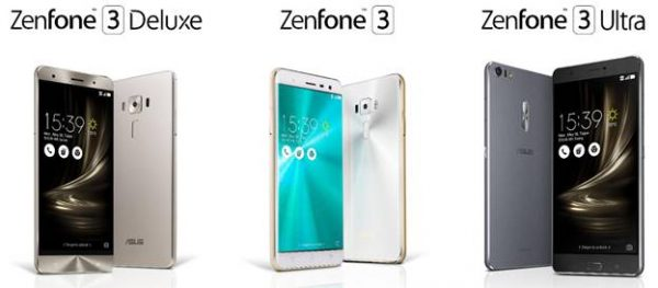 ASUS ZenFone 3, ZenBook 3 and Transformer 3 Series