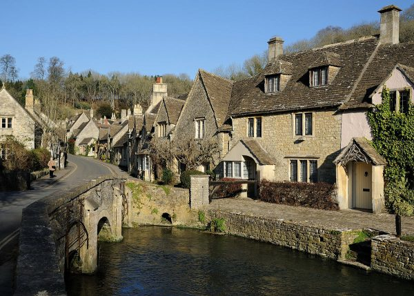 Castle Combe, a typical Cotswolds village made with Cotswold stone