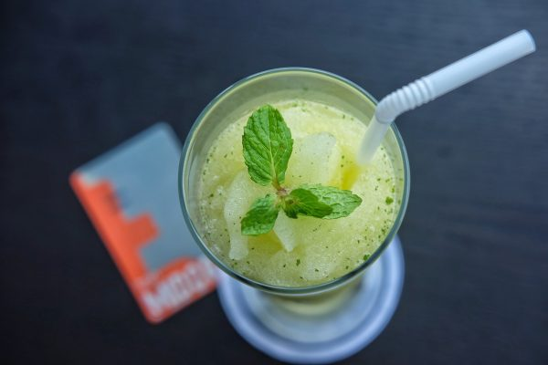 Midori Mist - the hotels signature welcome drink