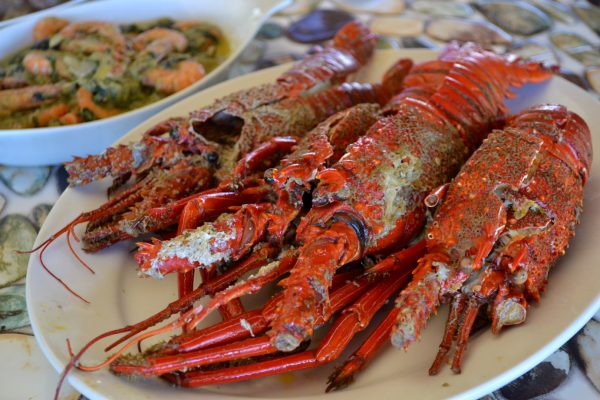 Sumptuous looking lobsters cooked with coconut milk for a uniquely Catandunganon gastronomic experience.
