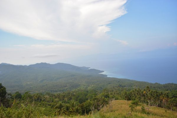 A breathtaking view of the island, 10 minutes before the peak
