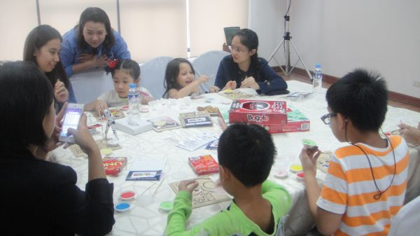 Kids get engaged in a lengthy activity of art and games