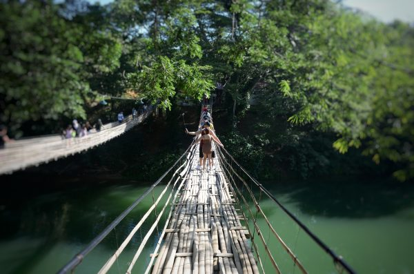 Loboc River Bamboo Bridge