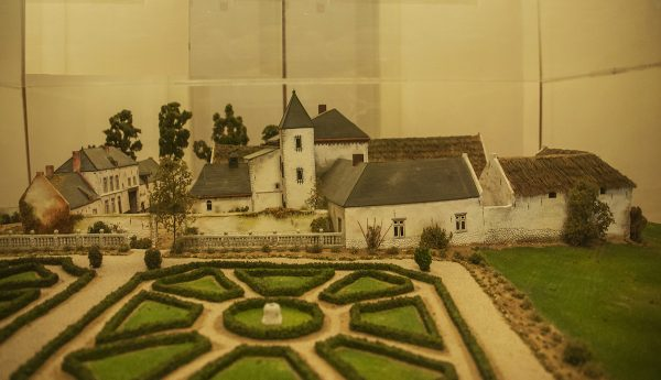 A model of La Haye Sainte a large farmhouse where some of the fiercest fighting took place.