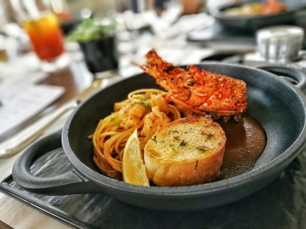 This Chili Lobster Spaghetti is probably the best Italian-Asian fusion food I've tried so far
