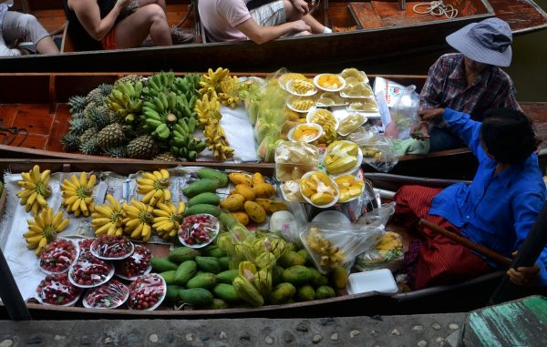 Fresh Fruits in Bangkok Floating Market