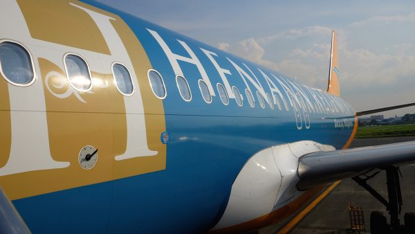 Henann Regency's livery ad on airbus A320