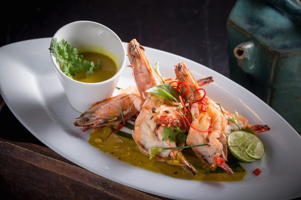 Thai Prawns with curry sauce