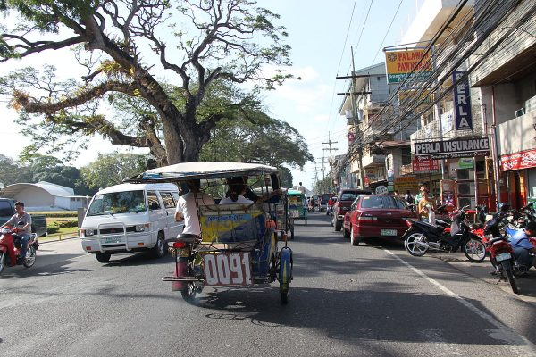 A tricycle in Dumaguete