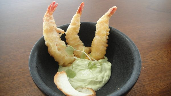 Prawn Tempura with Wasabi Mayo at C Lounge