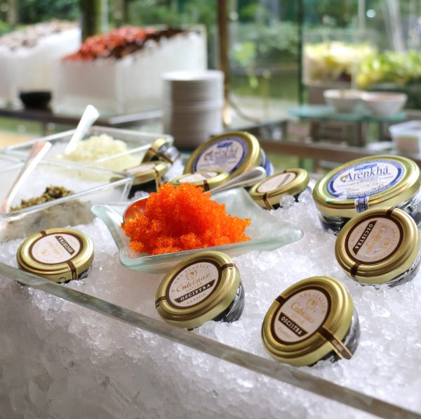 A variety of caviar to enjoy at the High Tea Buffet in the Lobby Lounge every Saturday