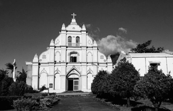 Basco Cathedral in Black and White