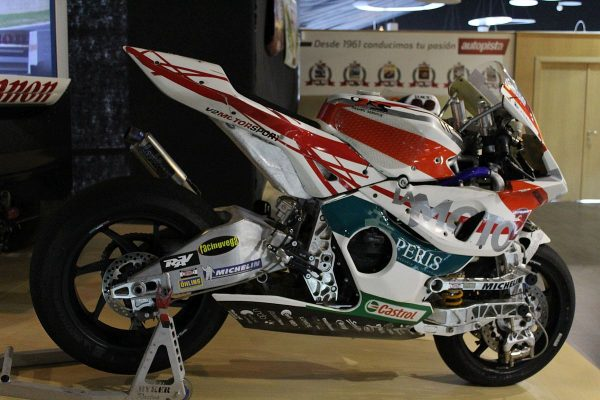 one of the motorcycles inside the museum