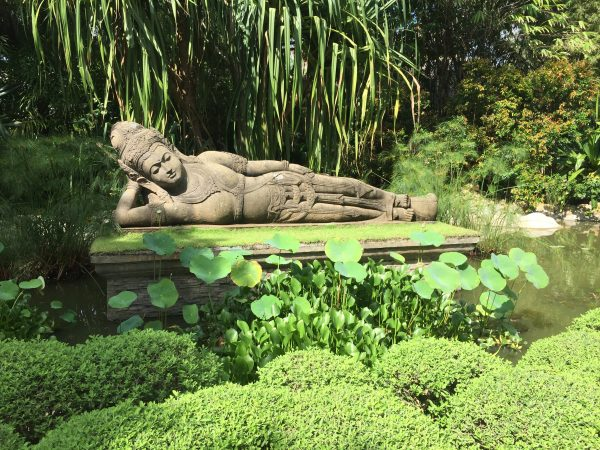 This 5-ton reclining Buddha was shipped all the way from Thailand to be the garden's centerpiece.