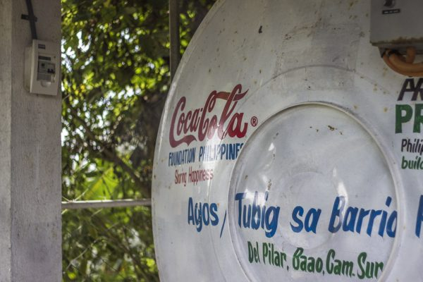 Agos Gravity-Fed Systems bring water from natural springs on higher grounds down to reservoirs near beneficiary communities like Barangay del Pilar in Baao, Camarines Sur.