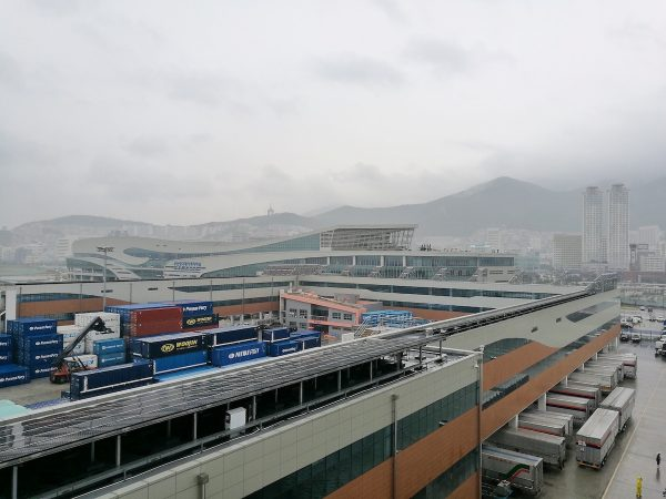 Arrival in the Port of Busan