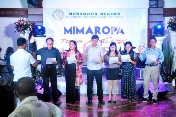 A new set of MIMAROPA Tourism Officers in their oath taking ceremony.
