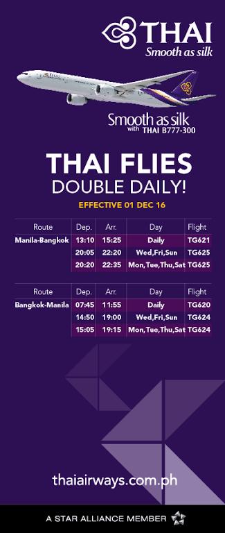 Flights From Manila to Bangkok via Thai Airways