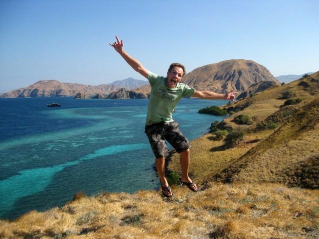 Matt Jumping in. Komodo Indonesia