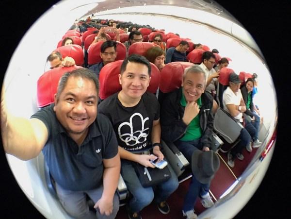 Group Shot inside AirAsia Aircraft
