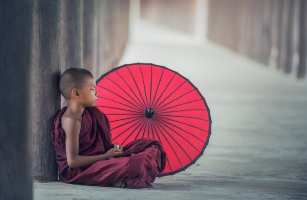 Novice Monk in Burma