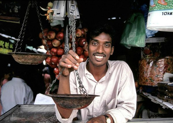 Spice Vendor in Colombo