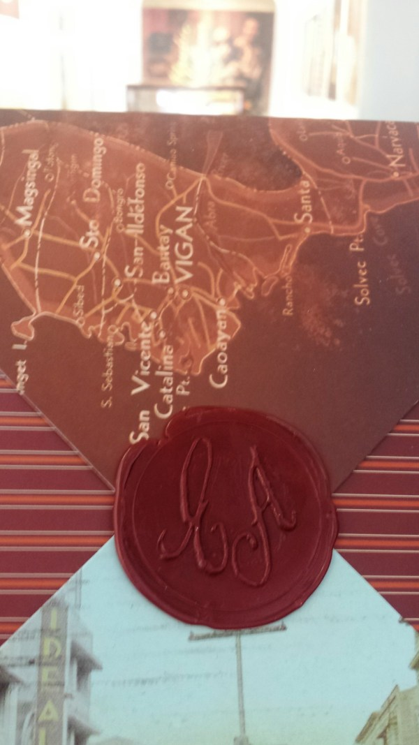 A wax stamp from the book