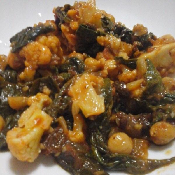 Cauliflower Chickpea Stew