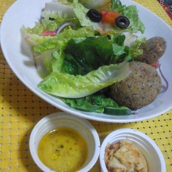 Falafel and Mediterranean Salad 3rd day