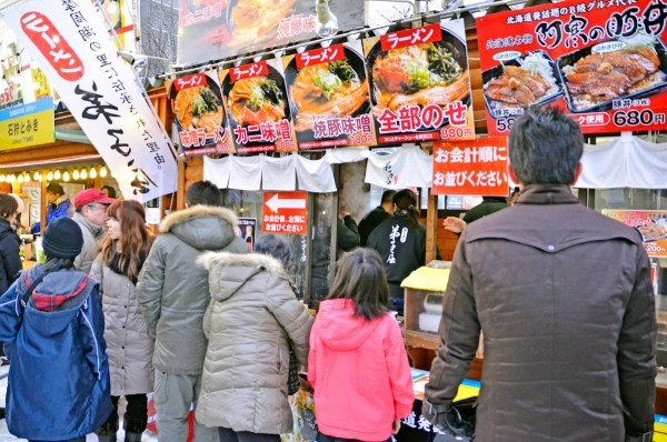 Food Stalls during Sapporo Snow Festival