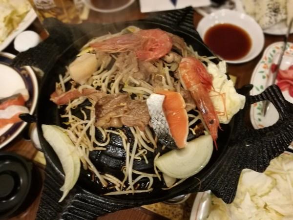 Genghis Khan Meal in Sapporo Beer Garden