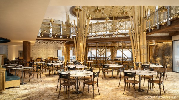 Hong Kong Disneyland Disney Explorers Lodge Chart Room Cafe Interior