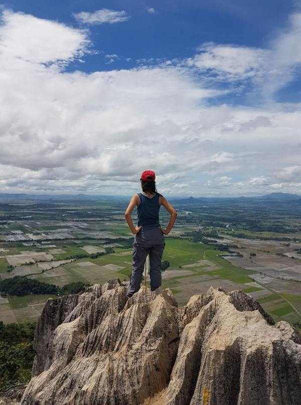 This picture is taken in the summit of Mt. Capistrano. The view is facing the rice fields of Brgy.Managok and Simaya.