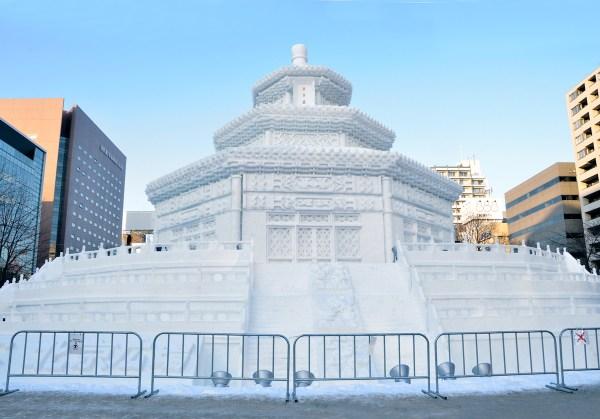 Sapporo Snow Festival Snow Sculpture