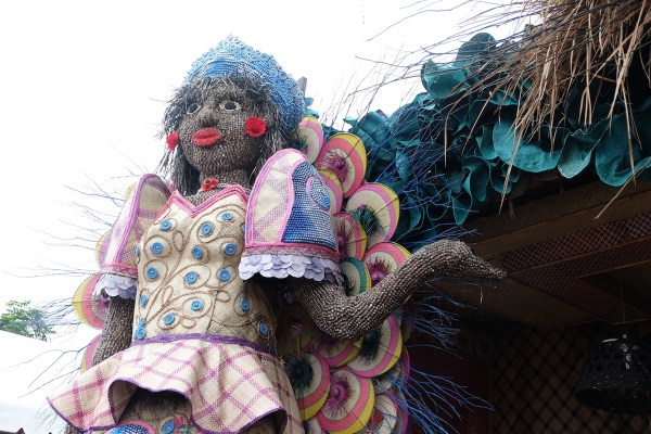 Scarecrow dressed like a Beauty Queen in Bambanti Festival 2017
