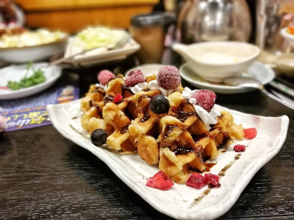 Waffle and Berries